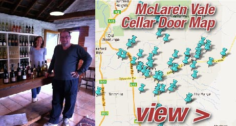 View a map of McLaren Vale Cellar Doors
