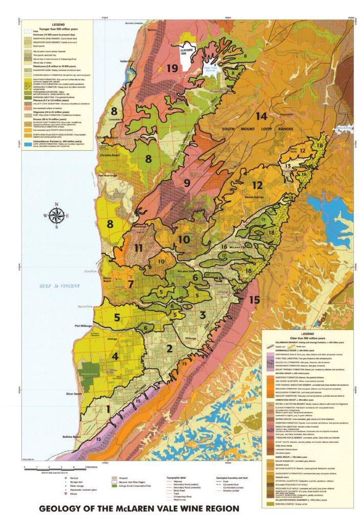 McLaren Vale Sub Region Map