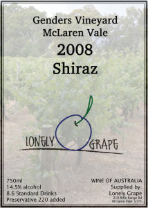 Lonely Grape 2008 Shiraz
