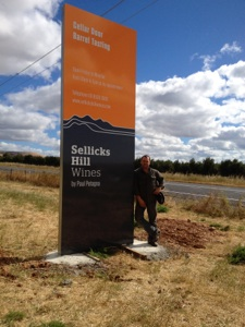 Sellicks Hill Wines Sign